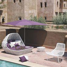 SB-(12) PE rattan mobiliário de exterior à beira da piscina cama / ao lado da piscina espreguiçadeira