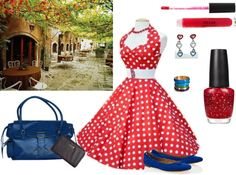 """Rocking the Town Red"" by peppermintmochamama on Polyvore"
