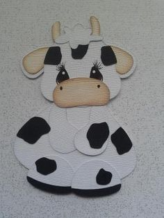 SCRAPBOOK PAPER PIECING TINY TREASURE COW BY MY TEAR BEARS