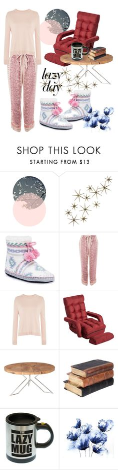 """""""Sleep In: Lazy Day"""" by nejry ❤ liked on Polyvore featuring Global Views, Muk Luks, Topshop and Lazy Susan"""