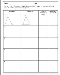 Triangle Congruence - SSS and SAS