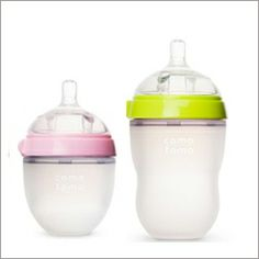 The Comotomo bottle - one great option for breastfed babies - check out the full post for more!