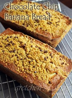 Chocolate Chip Banana Bread! 1 pot mix! NO MIXER!