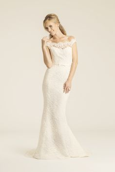 Pfeiffer lace wedding gown, made in San Francisco, California by Amy Kuschel
