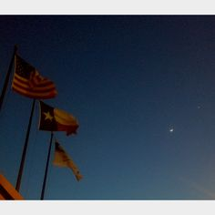 Fifty Stars, Lone Star, Moon & Venus