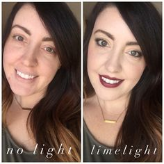LimeLight by Alcone Botanical Foundation in Ivory, Enduring Lip Color in Sugar Plum.