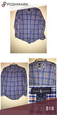 Ralph Lauren Oxford Shirt Like•new Ralph Lauren Button Up Shirt •  Size 7 • Excellent condition • No signs of wear Ralph Lauren Shirts & Tops Button Down Shirts
