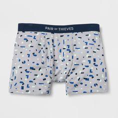 Pair of Thieves Men's Super Soft Boxer Briefs - Light Blue XL Briefs Underwear, Boxer Briefs, Light Colors, Light Blue, Boys Boxers, Blue Grey, Gray, Color Blue, Patterned Shorts
