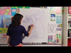 How to Draw a Dragon - Great Artist Mom - Guided Drawing - YouTube