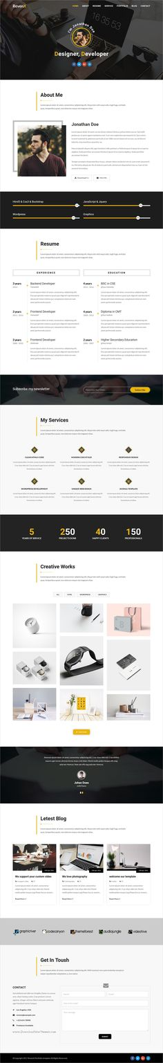 Xens-Personal / Portfolio Responsive Template Template for resume - Resume Now Customer Service