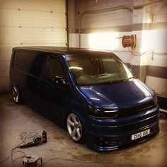 Well that's the #bassbus ready for #ultimatestance #rupes #bigfoot #autobritedirect #vwt5 #evolutionpaintworks #bordercityvags
