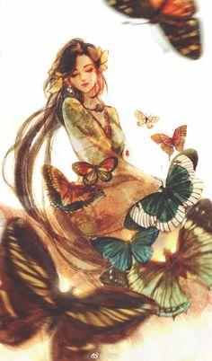 Character Inspiration, Character Design, Natsume Yuujinchou, L5r, Human Art, Anime Art Girl, Cute Illustration, Ancient Art, Chinese Art