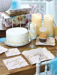 Sales Producers Inc. - Design Design - Paper Tableware - FOREVER AND ALWAYS Party Design Design, Bridal Shower, Place Cards, Favors, Place Card Holders, Paper, Tableware, Gifts, Wedding