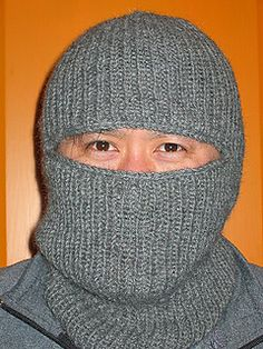 Ravelry: Quick and Easy Balaclava pattern by Helen Fleischer Crochet Dolls Free Patterns, Crochet Kids Hats, Afghan Crochet Patterns, Knitting Patterns Free, Knit Crochet, Hat Patterns, Knitting Designs, Mens Knitted Scarf, Knitted Hats