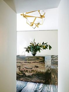 Vincenzo de Cotiis' Milanese palazzo beautifully stripped back to its roots: Brazilian marble in the kitchen; brass light by de Cotiis Vogue Living, World's Most Beautiful, Beautiful Homes, Vincenzo De Cotiis, Swing Arm Wall Lamps, New York Homes, Interiors Magazine, Modern Spaces, Interior Exterior