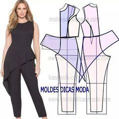 Resultado de imagen para patron de blusas de moda