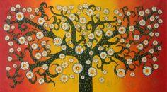 The Secret Kurrajong Tree Aboriginal Art Painting 2m