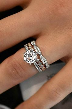 24 TOP Engagement Ring Ideas ❤️ top engagement ring ideas round diamond pave wedding set ❤️ See more: http://www.weddingforward.com/top-engagement-ring-ideas/ #wedding #bride