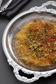 Homemade Kanafeh Pastry Recipes, Bread Recipes, Dessert Recipes, Desserts, Knafe Recipe, Kataifi Pastry, Sweet Like Chocolate, Melted Cheese, Cake Tutorial
