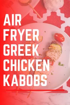 These Greek Chicken Kabobs are made in the air fryer and are a complete meal with protein and veggies in one kabob! #chicken #airfryer #airfryerrecipes #ww #weightwatchers #dinnerrecipes Slow Cooked Chicken, Baked Chicken Recipes, Ww Recipes, Healthy Dinner Recipes, Greek Chicken Kabobs, Weight Watcher Dinners, Greek Cooking, Air Fryer Recipes, Side Dishes