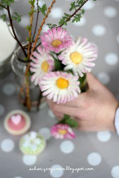 Gänseblümchen filzen - Daisy felted