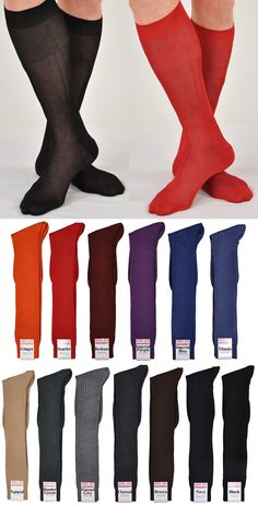 Kabbaz-Kelly Over-the-Calf Fine Hand-Linked Merino Socks ExtraFine Merino 100%, Exclusively Ours Made in Italy by traditional Italian artisans Our Most Popular Men's Dress Sock