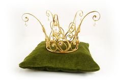 Golden Fairytale Princess Crown of gold covered silver with pearls and white Topaz, $870.00  Want to know how I created it? Take alook here: http://castensjewellery.blogspot.com/2011/10/fairytale-princess-crown.html