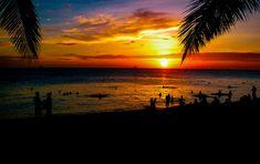 Sunset over Boracay Island, Philippines. Regions Of The Philippines, Boracay Philippines, St Johns Photography, Philippine Holidays, Boracay Island, Visayas, Nebraska, Sunrise, Beach