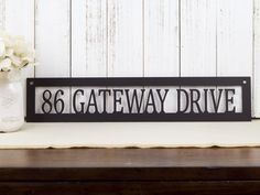 "Address Sign | 20""W x 4""H 