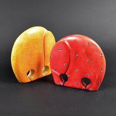 Colorful soapstone elephant-COLOURFUL SOAPSTONE ELEPHANT