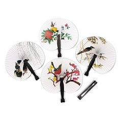 4ULucky Retro Chinese Paper Hand Fan Folding Wedding Party Decoration * For more information, visit image link. Note: It's an affiliate link to Amazon.
