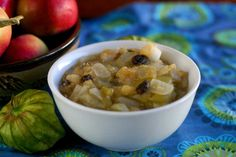 Apple and Tomatillo Chutney