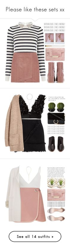 """""""Please like these sets xx"""" by ootdreport ❤ liked on Polyvore featuring Gianvito Rossi, Oasis, Band of Outsiders, Eve Lom, River Island, Maison Margiela, Vetements, W. Britt, Chloé and Zeynep Arçay"""