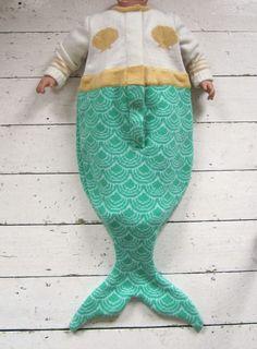 """Teehee! Mermaid """"Sleeping Bag"""" for baby!"""