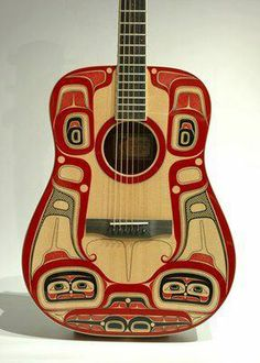 Killerwhale Larrivee Guitar by Haisla artist Lyle Wilson in Kitamaat.... what a beautiful piece of art!!