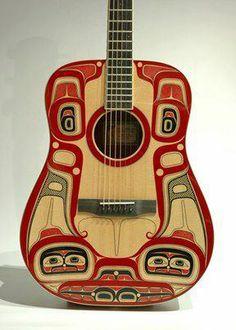 Killerwhale Larrivee Guitar by Haisla artist Lyle Wilson in Kitamaat.... what a beautiful piece of art!!