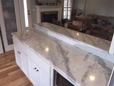 Mont Blanc quartzite : Mont Blanc quartzite kitchen countertops.