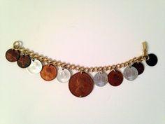 Vintage Around The World Foreign Coin Bracelet Heletia Republik Sterreich Africa | eBay