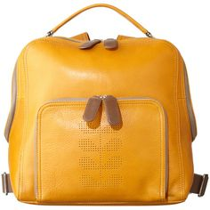 Slouchy Punched Leather Laurel Backpack