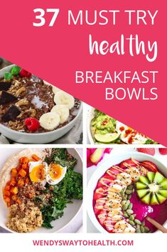 I've put together a collection of healthy breakfast bowls from some of the best food bloggers around! There's one to suit every breakfast or brunch occasion, why not try a different one each day? #healthybreakfastrecipes #healthybreakfastideas #smoothiebowls #wendyswaytohealth