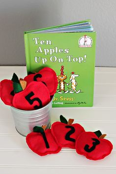 How to Make Apple Bean Bags + Game - Dr. Seuss Inspired Activity - Tori Grant Designs