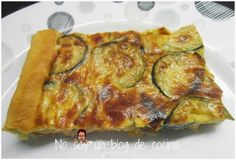 No soy un blog de cocina: Explica cómo hacer una QUICHÉ DE CALABACÍN Y QUESITOS de manera muy fácil y rápida