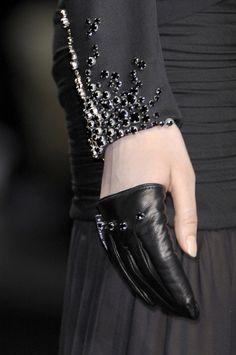 Frankie Morello - half glove #leather #black