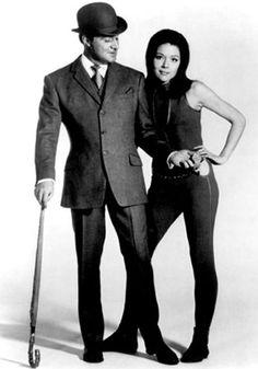 Patrick Macnee as john Steed and Diana Rigg as Emma Peel in The Avengers circa 1966