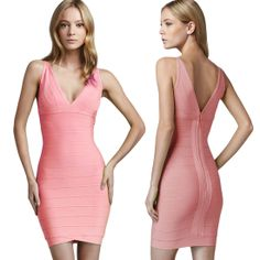 Low Cut Sexy Womens Bodycon Dress Cocktail Party Bandage Dress Clubwear 4 colors Features: Intro:V-Neck,Sleeveless,Wrapping, Mini Fashion and sexy Color:Red, Green, Yellow, Pink Material: Cotton + polyester