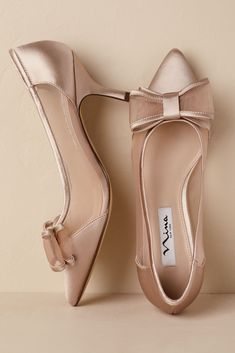 Complete your wedding day look with a pair of classic bridal shoes. BHLDN offers wedding heels that are as beautiful as they are comfortable, no matter your venue. Shop wedding shoes for the bride now! Lace Up Heels, Pumps Heels, Stiletto Heels, High Heels, Satin Pumps, Cute Shoes, Me Too Shoes, Studded Heels, Prom Shoes
