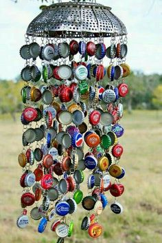Bottle caps wind chime