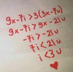 Deze quote is perfect om vooraan het hoofdstuk ongelijkheden te plaatsen: wiskunde is liefde!