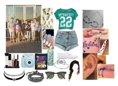 """""""Hanging Out With O2L"""" by lifeasgege ❤ liked on Polyvore featuring Levi's, Smashbox, Fujifilm, !M?ERFECT, Charlotte Russe, Disney, Vans, AeraVida and Ray-Ban"""