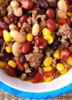 Taco soup, pretty much my recipe but I add hominy! So good!